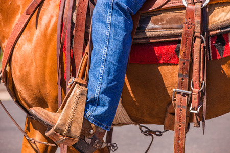 A close up of a cowboy Stock Photo - 30848061