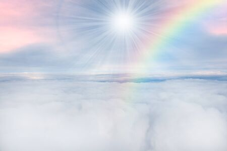 rainbow over the cloud photo