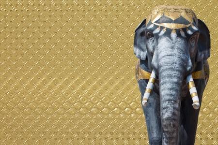 asian elephant: elephant statue on abstract background  Stock Photo