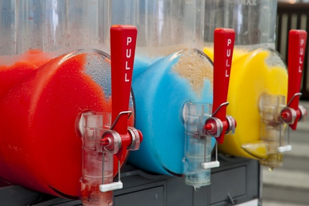colorful of frozen drink