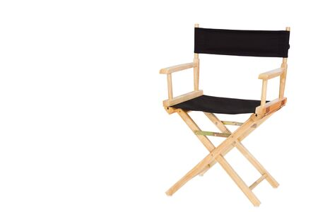collapsible: Director chair isolated on white background