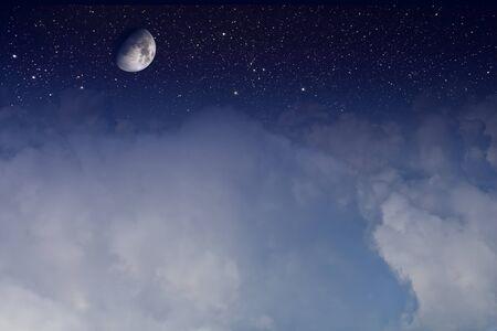 half moon on starry sky Stock Photo - 10338462