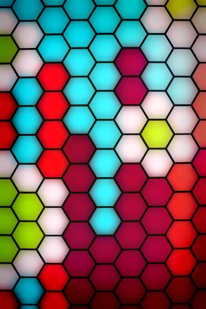 contrasts:  abstract Honeycomb pattern  Stock Photo