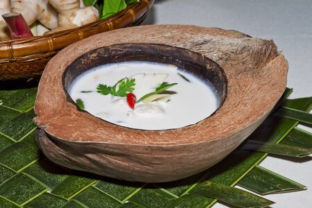 Thai food   Chicken Coconut Soup with galanga root