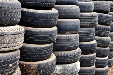 Pile of old car tires  photo