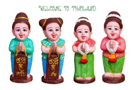 Thai traditional welcome sign   photo