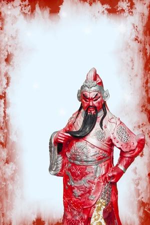 Statue Of Guan Yu ,god of honor Фото со стока