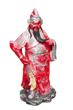 Statue Of Guan Yu isolated ,god of honor   photo