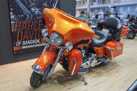 BANGKOK - APRIL 1 : HARLEY DAVIDSON on Display in Challenger Hall,Impact Muangthong Thani,The 33rd Bangkok International Motor Show in Bangkok,Thailand on April 1,2012.