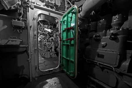 Inner Old Submarine - WWII  Stock Photo - 15509201
