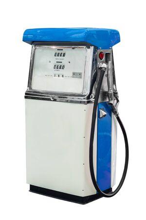 bomba de gasolina: Aislado bomba de combustible Vintage