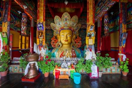 Buddha Maitreya in Thiksey Gompa, Leh Ladakh, India