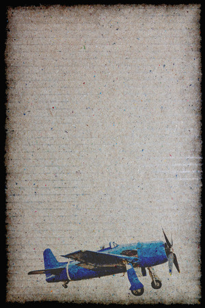 old paper sheet with vintage airplane designs Фото со стока