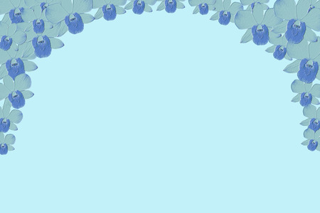 emboss: abstract blue flower emboss background