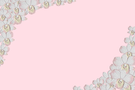 emboss: abstract pink flower emboss background Stock Photo