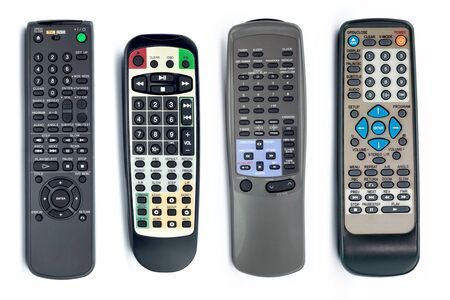 remote controls: remote controls isolated on white background Stock Photo