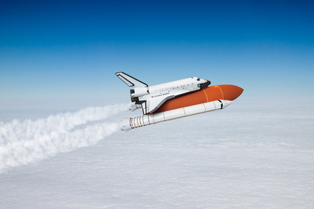 take a history: Space shuttle taking off to the sky ( NASA image not used )