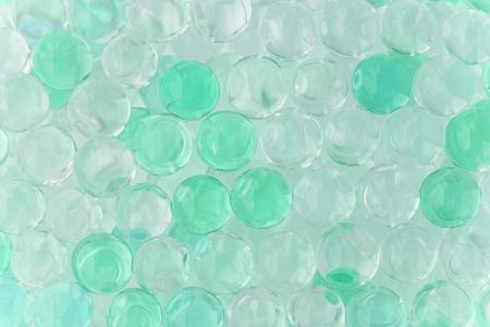 Polymer gel. circle hydro gel balls bead balloon bubbles texture background.