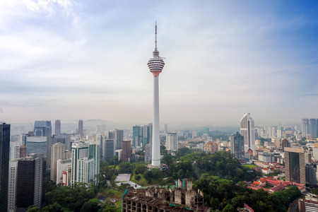 aerial view of Kuala Lumper skyline with KL Tower