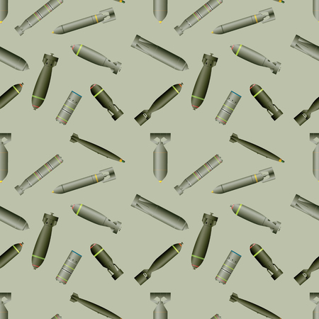 Seamless pattern background, set of bombs and rockets, vector illustration eps10 Illustration