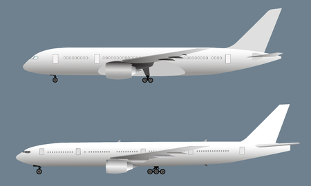 Seitenansicht des Passagierflugzeugs, Vektorillustration eps10 Vektorgrafik