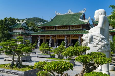 Da Nang, Vietnam - MAR. 27 2019, Linh Ung Pagoda, the most peaceful place with stunning view in Da Nang, Vietnam. Редакционное