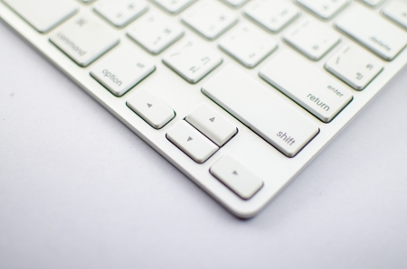 The keyboard for type text or select work with mouse and computer photo