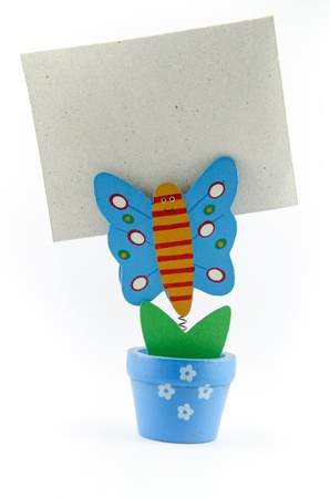 A Butterfly paperclip with isolated type photo
