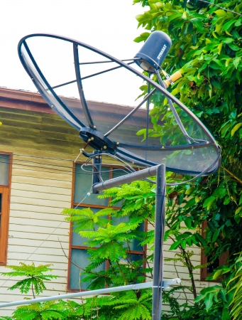 satellite on the roof Stock Photo - 16872362