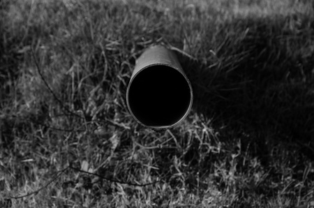 A water pipe  with black&white color. photo