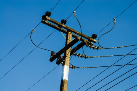 The Electronic post with bluesky Stock Photo - 16969332