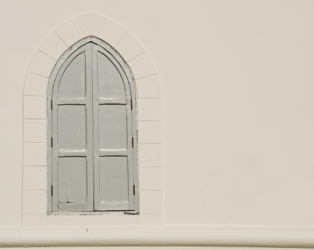 White window with white wall. photo