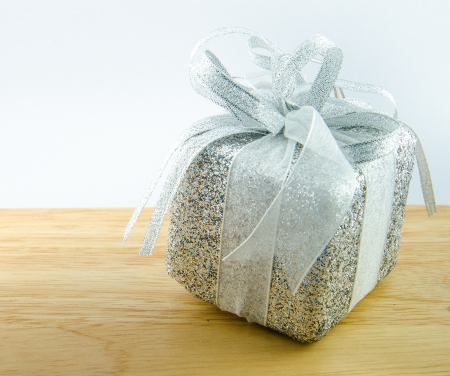 Giftbox with white backgrounds. Stock Photo - 17068518