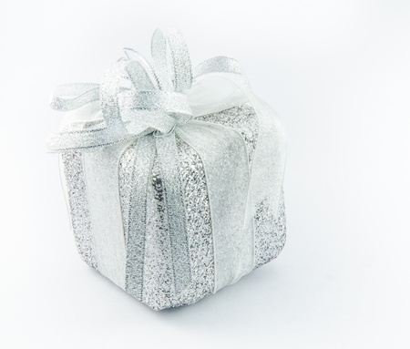 Giftbox with white backgrounds. Stock Photo - 17068505