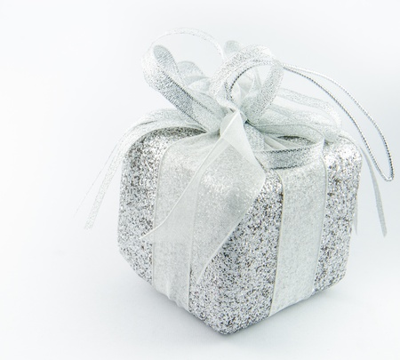 Giftbox with white backgrounds. Stock Photo - 17068513