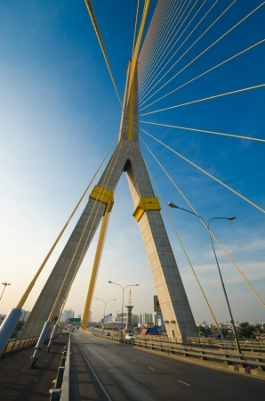 Rama8 bridge is the one landmark of bangkok province. (Thailand) photo