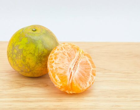 Orange with white background. photo