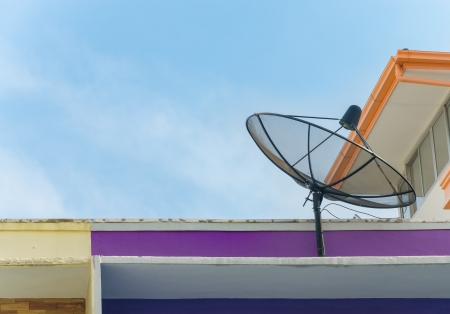 Satellite on the roof. photo