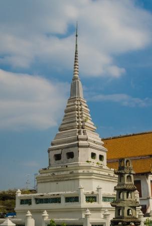 White pagoda with blue sky. Stock Photo - 17173674