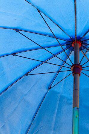 A blue umbrella photo