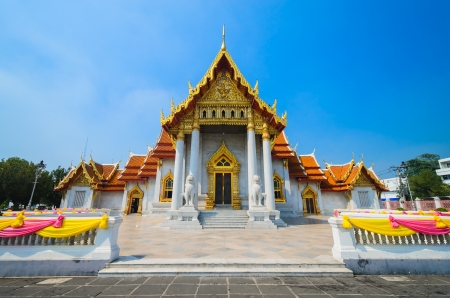 benchamabophit temple is the 1in9 temple landmark of bangkok. (thailand) photo