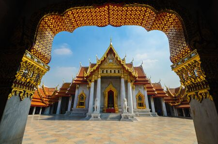 benchamabophit temple is the 1in9 temple landmark of bangkok. (thailand) photo