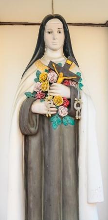 beatification: Statue around the church in bangkok. Stock Photo