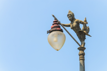 Lamp with blue sky. photo