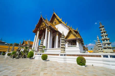 Suthat temple in bangkok province. photo