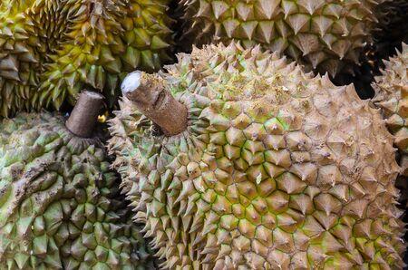 Durian on the street market. photo