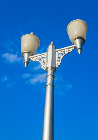 Lamp with bluesky photo