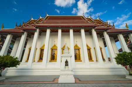 Temple of thailand in bangkok province. photo