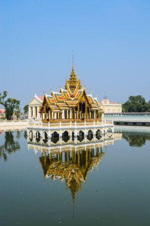 Palace in bang-pa-in park at ayutthaya province (Thailand.) Stock Photo - 17495500