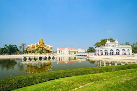 Palace in bang-pa-in park at ayutthaya province (Thailand.) Stock Photo - 17496698